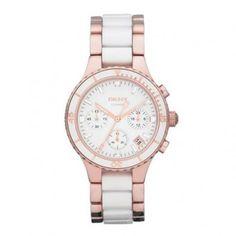 DKNY NY8504 Rosé gouden dames horloge.