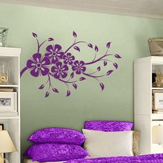 Simple Cherry Blossoms Wall Decal Sticker Graphic