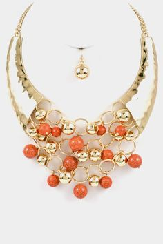 Coral Statement Jewelry