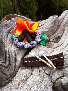 Campfire hair clip