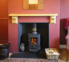 Chimney Breast with red feature wall