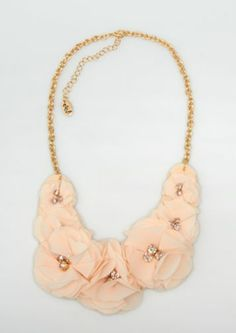 Crystal Tulle Flower Necklace | Necklaces | rue21