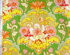 Pop Garden Pineapple Brocade green Heather Bailey Free Spirit Fabrics BTY