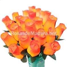 Rosa anaranjada Color Naranja, Plants, Orange Pink, Orange Roses, Wooden Flowers, Bouquet Wedding, Bouquets, Colors, Flora