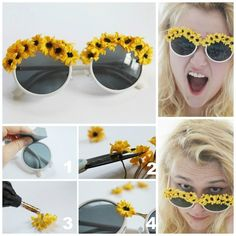 15 Ways to Make Cool DIY Embellished Sunglasses - Pretty Designs Discount Sunglasses, Sunglasses Outlet, Wayfarer Sunglasses, Beautiful Home Designs, Pretty Designs, Diy Nagellack, Do It Yourself Fashion, Rosa Rose, Floral Theme