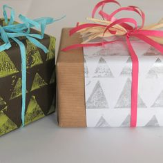 DIY Wrapping Paper, Cards, Wallpaper & More With Roller Pins : EcoSalon