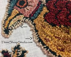"""How To Keep The Details Of A Punch Needle Design """"Crisp and Clear"""" - ThreeSheepStudio.com #needlepunch"""