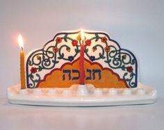 handmade ceramic hanukka lamp menorah - Google Search