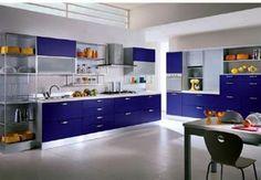 modern colorful kitchen