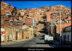 The streets of Oruro, Bolivia!