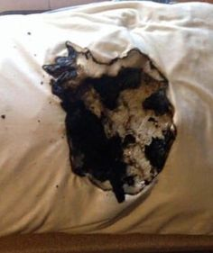 Her Pillow Caught Fire As She Slept. But Then She Sees What's Underneath…