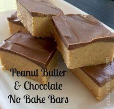Peanut Butter & Chocolate No Bake Bars