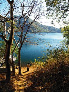 Lake Satonda, Satonda Island, West Nusa Tenggara, Indonesia.