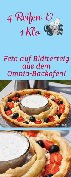 Feta on puff pastry with a refreshing dip is a light snack from the Omnia oven 4 tires 1 toilet Feta, Mousse, Avocado Pesto Pasta, Light Snacks, Oven, Brunch, Cooking, Camper, Desserts
