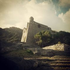 The Medieval Castle on the Hill Portovenere (Italy) Midlle Age