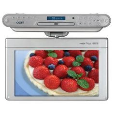 The Coby In. Under-the-Cabinet DVD/CD Player features a Digital TV and Radio. It has a inch widescreen TFT LCD display screen and includes a digital AM/FM radio. Under Counter Tv, Under Cabinet Tv, Personal Cd Player, Portable Tv, Tv Accessories, Digital Tv, Tv On The Radio, Tv Radio, Kisses