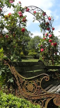 Rose Arch and Bench. I hope there's an apple tree with in easy reach...