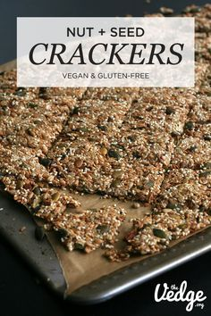 Delicious and nutty Nut & Seed Crackers that are gluten-free and grain-free. Chia seeds, sesame seeds, sunflowers seeds, and other seeds.