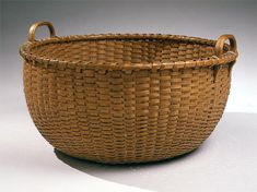 SHAKER: Gathering basket, Canterbury, New Hampshire, circa 1860 Wooden Basket, Bamboo Basket, Old Baskets, Vintage Baskets, Gift Drawing, Painted Baskets, Bountiful Baskets, Nantucket Baskets, Primitive Antiques