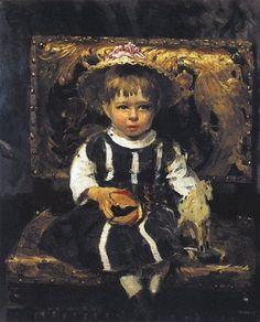 Portrait of Vera Repina, 1874 by Ilya Repin. Realism. portrait. Tretyakov Gallery, Moscow, Russia