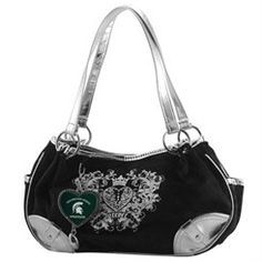 Michigan State Spartans Women's Football Sports Luxe Purse - Black