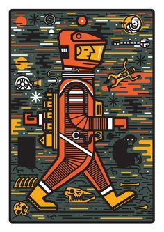 Space Odyssey - sam peet illustration