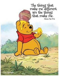 Each person is different . quotes & say*ngs winnie the pooh Cute Winnie The Pooh, Winnie The Pooh Quotes, Disney Quotes, Disney Songs, Eeyore, Cute Quotes, Inspirational Quotes, Motivational, Cartoons