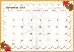 calendar view November