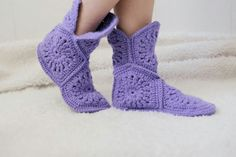 warm homemade knitted Slippers any colors
