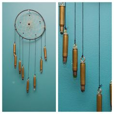 studs and pearls: side diy: Unconventional Dream Catchers.in dream catcher put tys name Bullet Casing Crafts, Bullet Casing Jewelry, Bullet Crafts, Bullet Art, Bullet Shell, Ammo Jewelry, Metal Jewelry, Jewelry Necklaces, Shotgun Shell Crafts