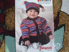 Fair Isle Nordic Raglan Knitted Baby Brights by RedWickerBasket