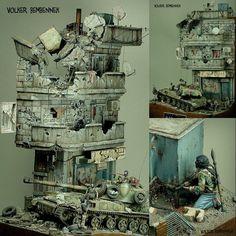"Fantastic diorama!!! ""Out to get you"" a story about a Syrian 2S3 Akatsiya. Modeler Volker Bembennek #scalemodel #plastimodelismo #usinadoskits #udk #miniatura #hobby #plasticmodel #plastimodelo #plastickits"