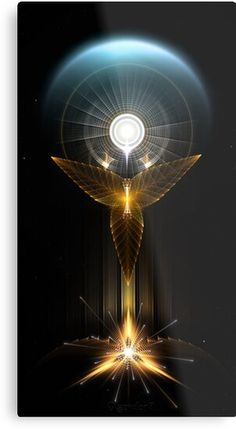 Light Of Hope On Golden Wings by on DeviantArt Sacred Geometry Art, Sacred Art, Golden Wings, Les Chakras, Visionary Art, Angel Art, Cool Wallpaper, Nice Wallpapers, Psychedelic Art