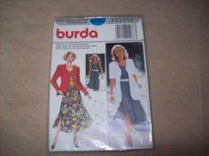 Burda Dress with Jacket, burda Sewing Pattern 4288 by vintagecitypast on Etsy