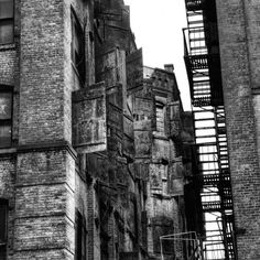Factory Doors, Brooklyn, DUMBO area / Dave Beckerman (w/view camera. New York Photography, Photography For Sale, Stair Art, Pix Art, Fire Escape, New York Photos, Nyc Photographers, Dream City, Great Photos
