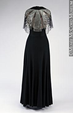 vintage fashion OMG that dress! — Jeanne Lanvin dress ca. 1934 via The McCord Museum Car Bras For Ne 1930s Fashion, Moda Fashion, French Fashion, Art Deco Fashion, Timeless Fashion, Vintage Fashion, Jeanne Lanvin, Vintage Outfits, Vintage Gowns