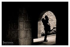 engagement photo, wedding photo.  silhouette.