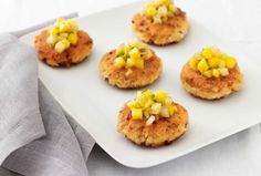 Salmon Cakes with Tropical Fruit Salsa.