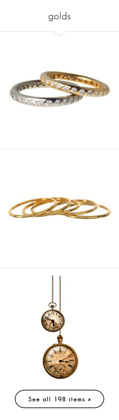 """golds"" by tinkertot ❤ liked on Polyvore featuring jewelry, rings, accessories, infinity rings, gold band ring, gold stacking rings, wedding band rings, stacked wedding rings, gorjana jewelry and yellow gold rings"