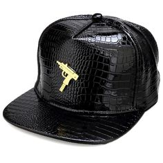 High Quality New Lindy Submachine Gun Logo PU Men Women Hiphop Full Cap  Skateboard Baseball Hats Snapback Rock Rapper Bone Gift 50396f2d24ab
