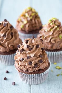 Chocolate Cannoli Cupcakes, #Cannoli, #Chocolate, #Cupcakes