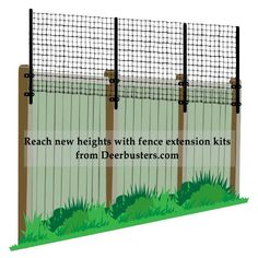 #fence Extensions add height to already existing fences like #chainlinkfence or #woodenfence. Protect #gardens now and save money for #CyberMonday2017. On www.Deerbusters.com.
