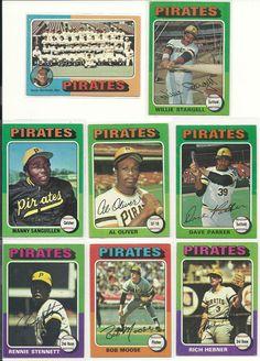 1975 vintage Topps PIRATES team 24 cards set lot HOF STARGELL Parker Oliver Ex+  #PittsburghPirates