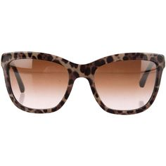 Dolce & Gabbana Sunglasses (€76) ❤ liked on Polyvore featuring accessories, eyewear, sunglasses, animal print, leopard print glasses, gradient lens sunglasses, dolce gabbana eyewear, animal print glasses and leopard print sunglasses