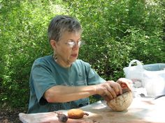 Hand-building pottery.  Fremont Indian State Park and Museum, Utah.
