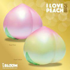 iBloom Bloom I Love Peach BIG Scented Jumbo Peach Realistic Squishy Squeeze Free #iBloom