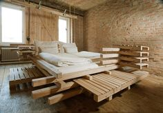 Bare essentials: The non-conformist Viennese Guest Rooms  Detail Online has showcased the innovative designs of the Austrian guesthouse in the Wiener Essig Brauerei. This alternative form of accommodation was created by heri&salli, a Viennese architecture firm.   Photograph: Petra Meisel
