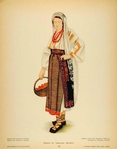 Teleorman, Muntenia (Wallachia) Folk Embroidery, Embroidery Patterns, Popular Costumes, Color Grading, Free Black, Folk Costume, Anthropology, Traditional Art, Ukraine