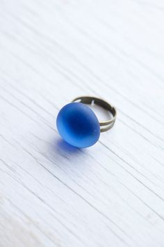 Skyblue Blue Glass Handmade Cocktail Ring