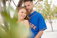 Engagement Photo Shoot Citi Field  PhotoCredit: Vanessa Guevara Photography   #EngagementPhotos #Wedding #CitiField #MLB #Ballpark #Baseball #Engagement #Photography #Mets #Laugh #love #Candid
